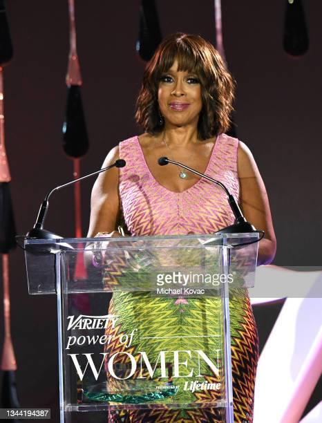 Gayle King speaks onstage during Variety's Power of Women on September 30, 2021 in Los Angeles, California.