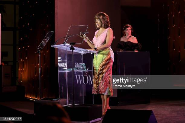 Gayle King speaks onstage during Variety's Power of Women Presented by Lifetime at Wallis Annenberg Center for the Performing Arts on September 30,...