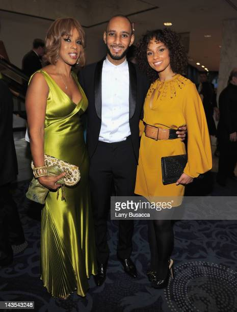 Gayle King Swizz Beatz and Alicia Keys attend TIME/PEOPLE/FORTUNE/CNN White House Correspondents' Association Dinner Cocktail Party at the Hilton...