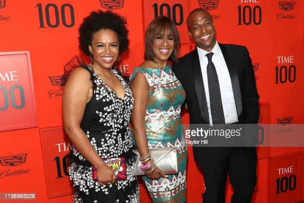 Gayle King with her children Kirby Bumpus and William Bumpus Jr attend the 2019 Time 100 Gala at Frederick P Rose Hall Jazz at Lincoln Center on...