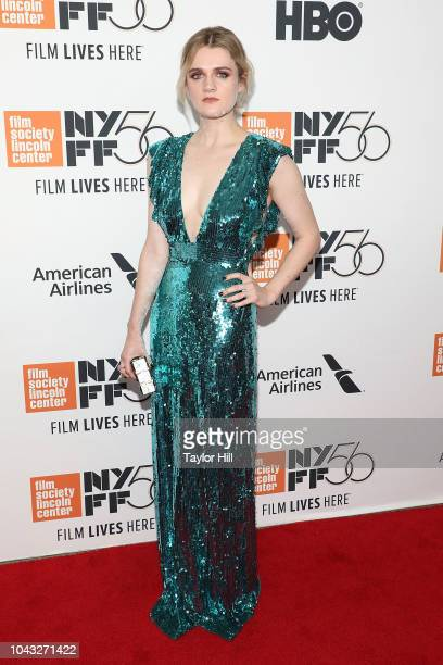Gayle Rankin attends the Her Smell premiere during the 2018 New York Film Festival at Alice Tully Hall Lincoln Center on September 29 2018 in New...