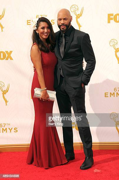Gayle Ridley and writer/producer John Ridley arrive at the 67th Annual Primetime Emmy Awards at the Microsoft Theater on September 20 2015 in Los...