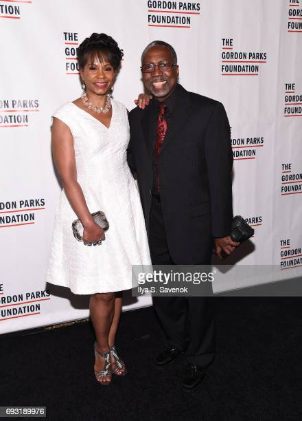 Gayle Samuels and Board of Directors Gordon Parks Foundation Mario Sprouse attend the 2017 Gordon Parks Foundation Awards Gala at Cipriani 42nd...
