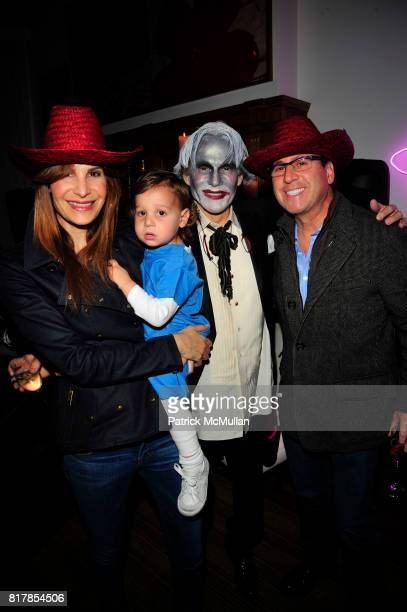 Gayle Sobel Jake Sobel R Couri Hay and Dr Howard Sobel attend R COURI HAY hosts a Vampire Halloween Party at R Couri Hay Residence on October 31 2010...
