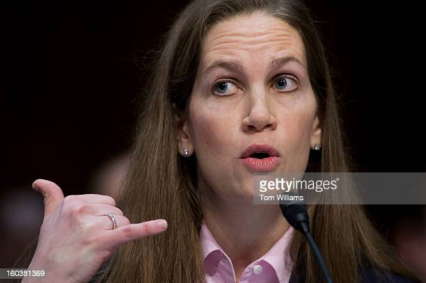 Gayle Trotter of the Independent Women's Forum testifies before a Senate Judiciary Committee hearing in Hart Building entitled What Should America Do...