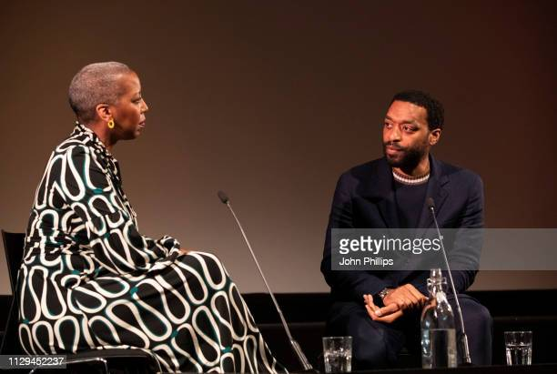 Gaylene Gould BFI Head of Cinema and Events and Chiwetel Ejiofor attend a preview screening of The Boy Who Harnessed The Wind at BFI Southbank on...