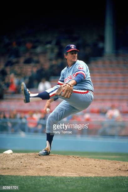 Gaylord Perry of the Texas Rangers delivers a pitch during a game in 1978
