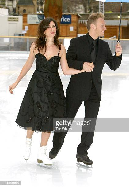Gaynor Faye and Daniel Whiston during 'Dancing on Ice' Photocall at Natural History Museum in London Great Britain