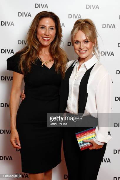 Gaynor Faye and Michelle Hardwick attends the Diva Awards 2019 at The Waldorf Hilton Hotel on June 07 2019 in London England