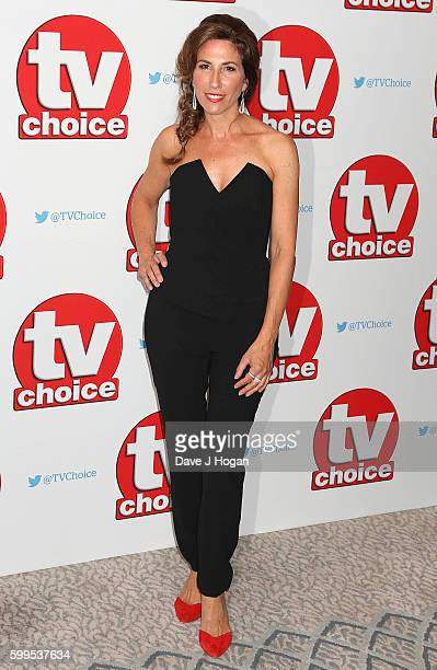 Gaynor Faye arrives for the TVChoice Awards at The Dorchester on September 5 2016 in London England