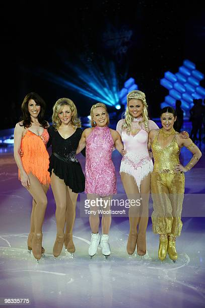 Gaynor Faye Claire Buckfield Jane Torville Emily Attack and Hayley Tamaddon attend the Dancing on Ice Tour photocall on April 8 2010 in Sheffield...