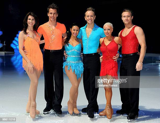 Gaynor Faye Matt Evers Hayley Tamaddon Dan Whiston Chris Fountain and Brianne Delcourt attend a photocall for Torvill Dean's 'Dancing On Ice' tour...