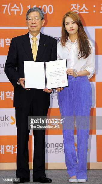 GaYoon of 4minute is nominated as ambassador for Dongguk university on September 17 2014 in Seoul South Korea