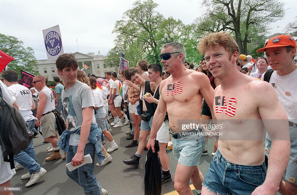 Gays march at the whitehouse