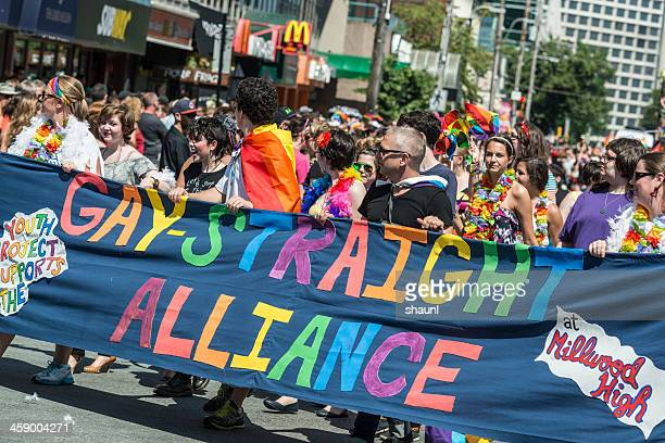 gay-straight alliance - straight stock pictures, royalty-free photos & images