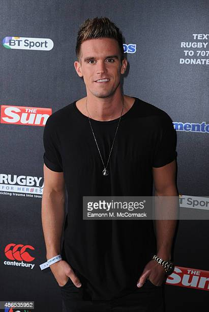 Gaz Beadle attends the after party for Rugby Aid 2015 at Twickenham Stadium on September 4 2015 in London England