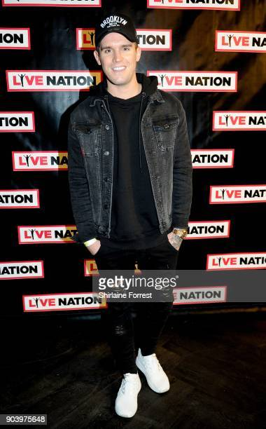 Gaz Beadle of Geordie Shore attends Chris Rock's celebrity gala on the opening night of his UK tour at Manchester Arena on January 11 2018 in...