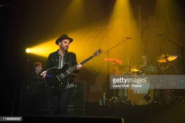 Gaz Coombes and Danny Goffey from Supergrass perform at Casino de Paris on February 4, 2020 in Paris, France.