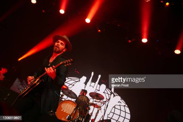 Gaz Coombes and Danny Goffey of Supergrass perform at Olympia Theatre on February 15 2020 in Dublin Dublin