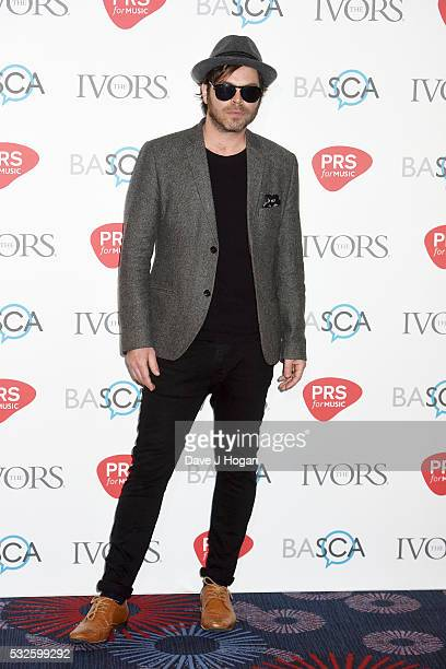 Gaz Coombes arrives for the Ivor Novello Awards at Grosvenor House on May 19 2016 in London England