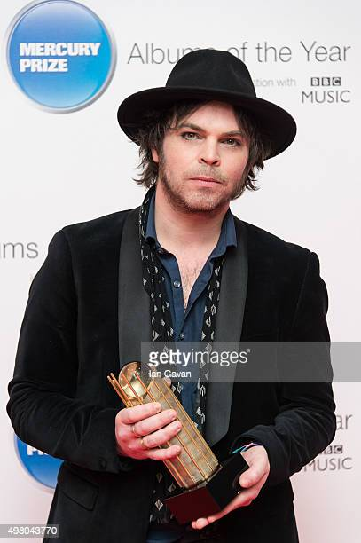 Gaz Coombes attends the Mercury Music Prize at BBC Broadcasting House on November 20, 2015 in London, England.