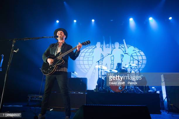 Gaz Coombes from Supergrass performs at Cafe de la Danse on February 4, 2020 in Paris, France.