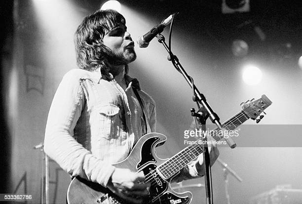 Gaz Coombes of British group Supergrass, performs on June 20th 1995 at the Melkweg in Amsterdam, the Netherlands.
