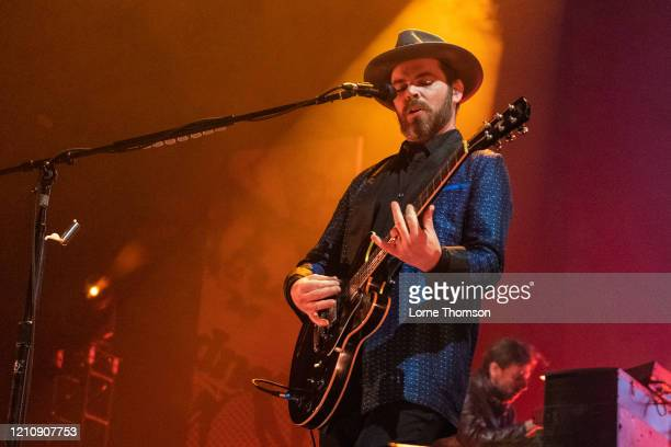 Gaz Coombes of Supergrass performs at Alexandra Palace on March 06, 2020 in London, England.