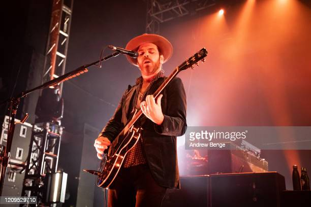 Gaz Coombes of Supergrass performs at O2 Academy Leeds on February 29 2020 in Leeds England