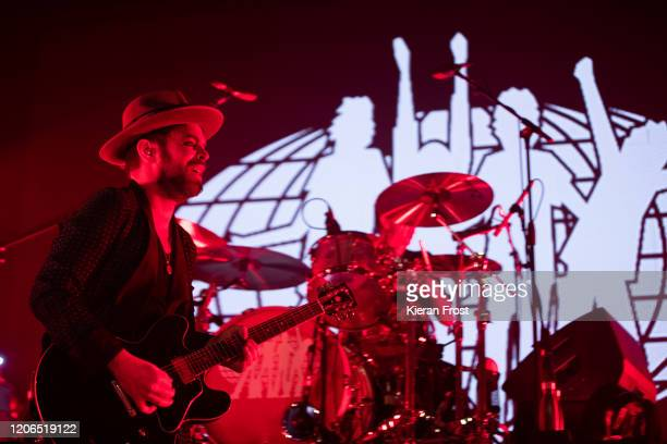 Gaz Coombes of Supergrass performs at Olympia Theatre on February 15, 2020 in Dublin, Dublin.
