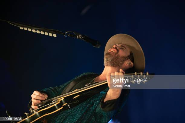 Gaz Coombes of Supergrass performs at Olympia Theatre on February 15 2020 in Dublin Dublin
