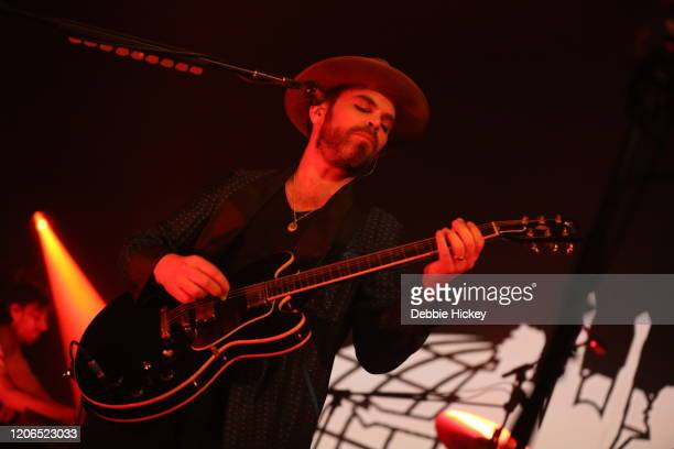 Gaz Coombes of Supergrass performs at Olympia Theatre on February 15, 2020 in Dublin, Ireland.