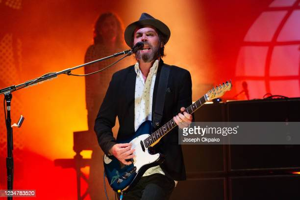 Gaz Coombes of Supergrass performs at South Facing Festival on August 20, 2021 in London, England.