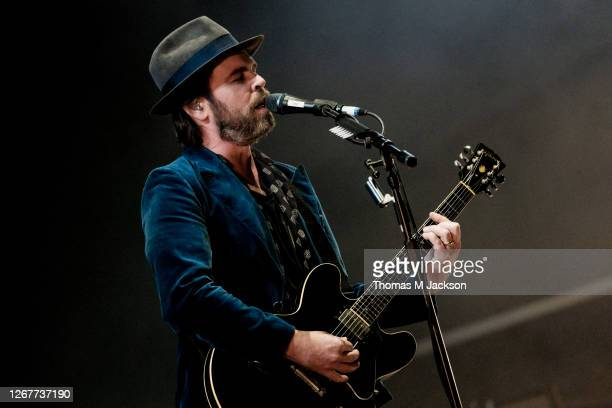 Gaz Coombes of Supergrass performs at Virgin Money Unity Arena on August 22, 2020 in Newcastle upon Tyne, England.