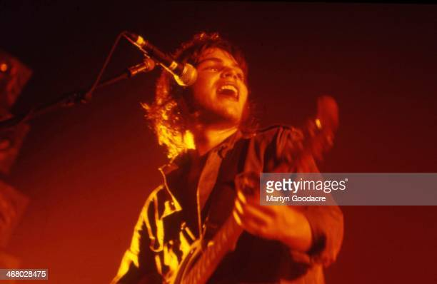 Gaz Coombes of Supergrass, performs on stage, United Kingdom, 1999.
