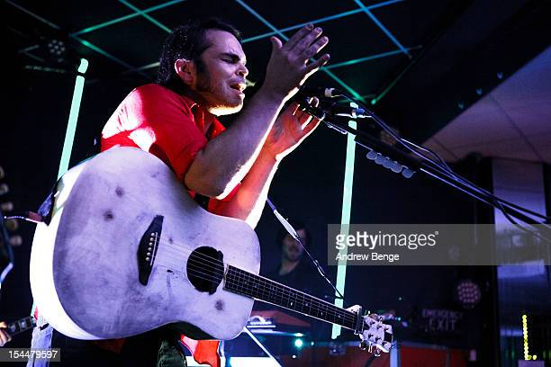 Gaz Coombes performs on stage at Brudenell Social Club on October 20, 2012 in Leeds, United Kingdom.