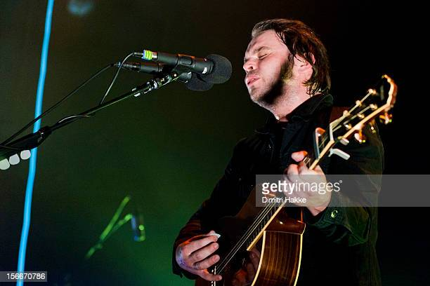 Gaz Coombes performs on stage at Nationaal Toneel Gebouw for Crossing Border Festival on November 17, 2012 in The Hague, Netherlands.