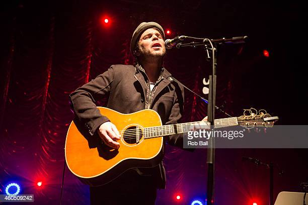 Gaz Coombes performs on stage for Unplugged For Autism at KOKO on December 15, 2014 in London, United Kingdom