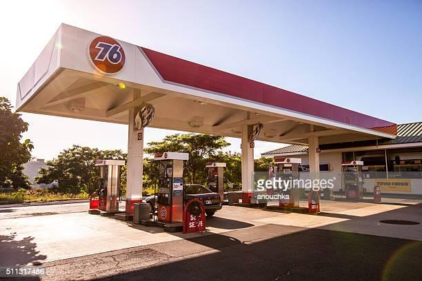 Gaz Station 76 in Lahaina, Maui, USA