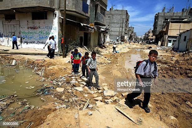 Gaza Strip Refugees Struggle After Weeklong Israeli Military Offensive in Gaza