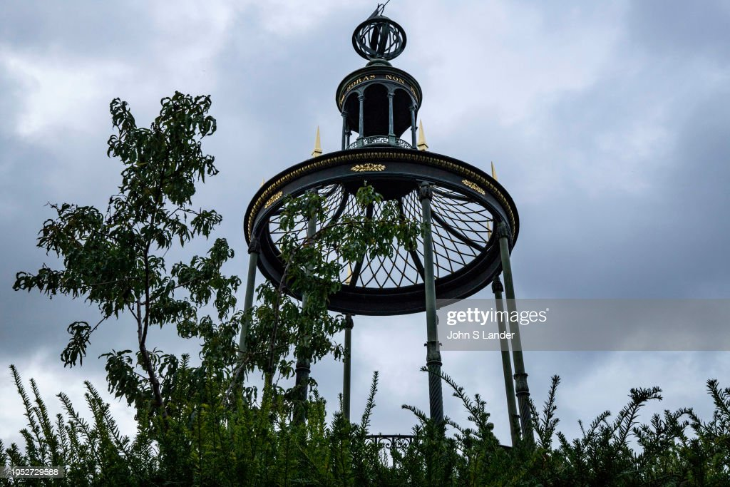 Gazebo at top of Labyrinth at Jardin des Plantes - one of seven ...