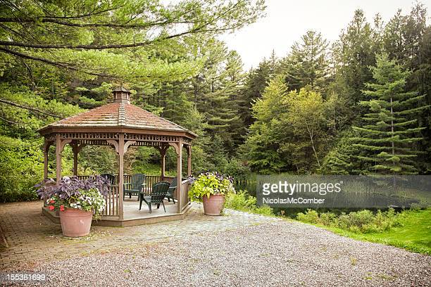 Gazebo by a lake