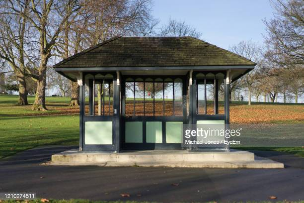 gazebo in park against clear sky - brixton stock pictures, royalty-free photos & images