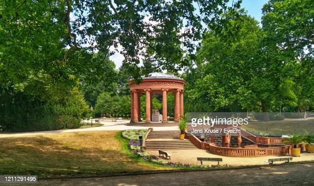 gazebo in park - bad homburg stock pictures, royalty-free photos & images