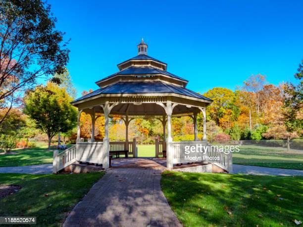 gazebo - oakes park - gazebo stock pictures, royalty-free photos & images