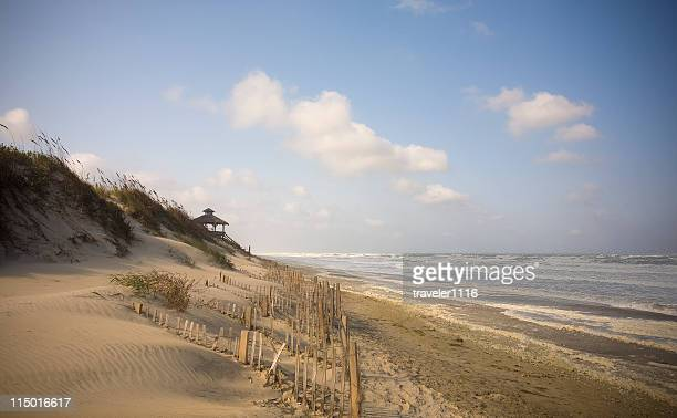 gazebo on beach - outer banks stock pictures, royalty-free photos & images