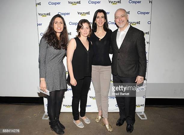 Gazelle Emam, Rachel Bloom, Aline Brosh McKenna, and Matt Zoller Seitz attend the Vulture Festival Casper Podcast Lounge at Highline Stages on May...