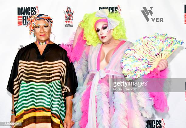 """Gazelle Paulo and Chaka Khanvict attend the Closing Night of Dances with Film Festival with premiere of """"Mister Sister"""" at TCL Chinese Theatre on..."""