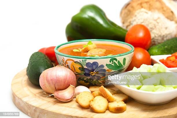 Gazpacho y los ingredientes