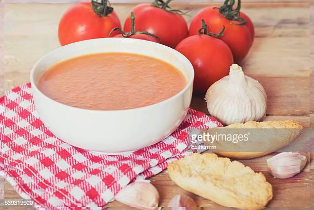 Gazpacho (cold tomato soup)
